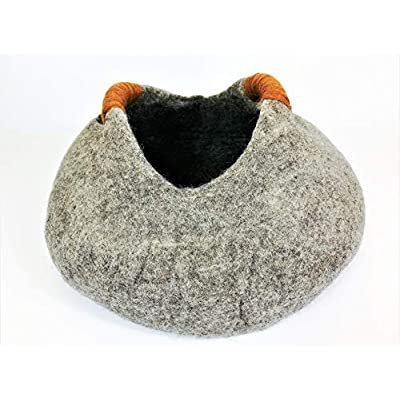 Cat Basket Tinie Fwends Eco-Friendly 100% Merino Wool Felt Cat Basket... [tag]