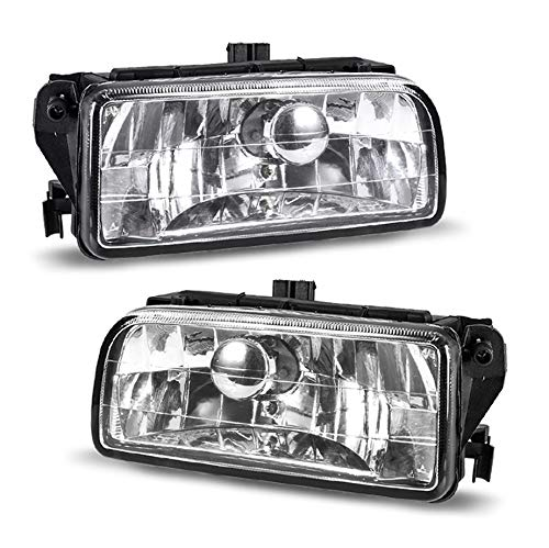 Alelife Clear Bumper Fog Light Lamps+Bulbs Pair for 92-98 BM W E36 318i 318ti 323i 328i