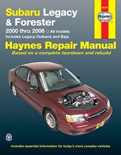 subaru legacy forester 2000 2006 haynes repair manuals haynes rh amazon com 2006 subaru legacy repair manual pdf 2006 subaru legacy repair manual pdf