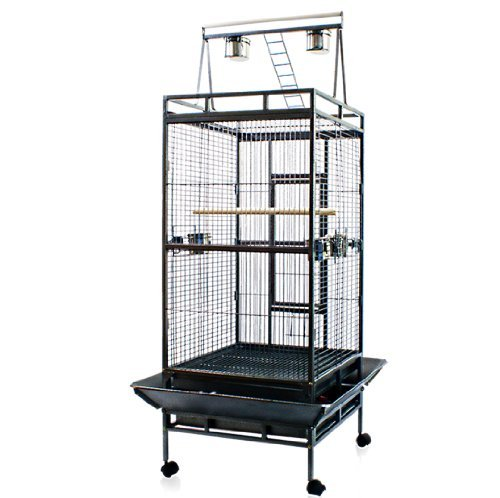 New Large Play Top Bird Cage Parttot Finch Macaw Cockatoo Birdcages, My Pet Supplies
