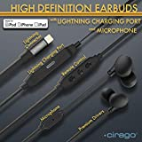 Cirago Earbuds in-Ear Earphones with Lightning Charging Port for iPhone, ipad, iPod, Premium High Definition Headphone, Noise Cancelling Headset,Deep Base HiFi Stereo