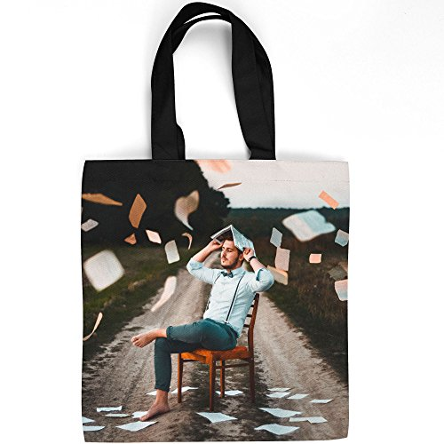 Westlake Art - Performance Portrait - Tote Bag - Fashionable Picture Photography Shopping Travel Gym Work School - 16x16 Inch (E04D8) ()