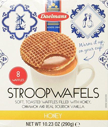 - Daelmans Stroopwafels, Honey, 10.23 oz (8 Count Cube Box)