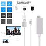 KingFurt Lightning to HDMI Adapter Cable, 1080P MHL - Best Reviews Guide