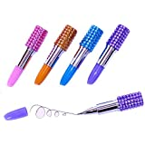 Dazzling Toys Adorable Bling Rhinestone Lipstick Pens - Pack of 12 Assorted Colors