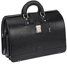 Ronts Lawyer's PU Leather Briefcase Laptop Bag Case Handbag for Men & Women