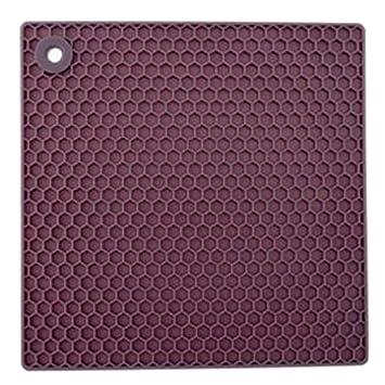 Silicone 2 Layer Trivet, Purple