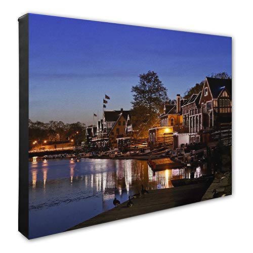(Photo File Boat House Row-Philadelphia Canvas Photo 16