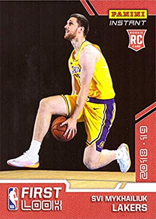 f593c954042 2018-19 Panini Instant Basketball  FI-35 Svi Mykhailiuk Rookie Card Los  Angeles
