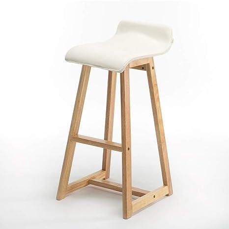 Amazon.com: ✌JBD Solid Wood Bar Stool, Family Kitchen ...