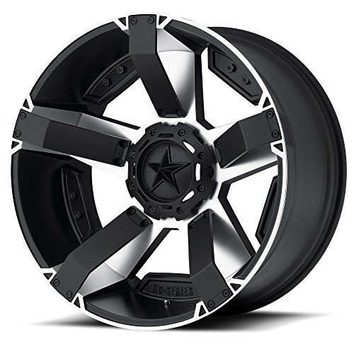 XD Series by KMC Wheels XD811 Rockstar II Satin Black Wheel With Machined Accents (17x8