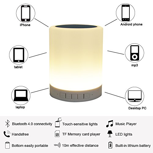 Wirless Bluetooth Stereo Speaker With Chargeable Touch