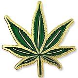 PinMart's Green Pot Leaf Marijuana Cannabis Enamel Lapel Pin