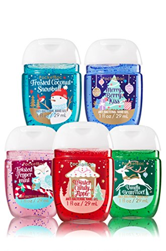 Bath & Body Works 5 Pack Pocketbac Holiday Traditions Bundle
