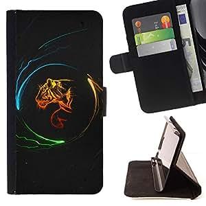 For HTC Desire 820 Case , Diseño Poder Tigre- la tarjeta de Crédito Slots PU Funda de cuero Monedero caso cubierta de piel