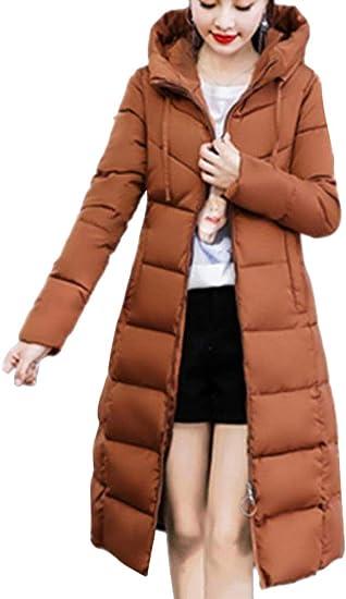 ORANDESIGNE Parka à Capuche Femme Hiver Manteau Chaud Jacket Blouson Longue Doudoune