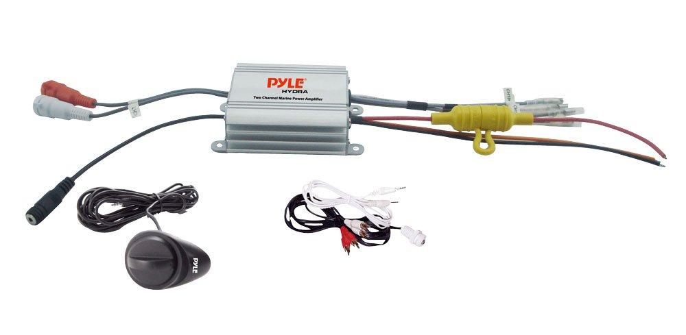 2 Channel Waterproof MP3// Ipod Marine Power Amplifier 5 /¼ Dual Cone Waterproof Stereo Speaker System
