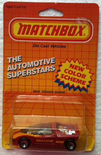 1987 Matchbox MB49 PEUGEOT QUASAR Automotive Superstars Series (1:64 Diecast Car) ()