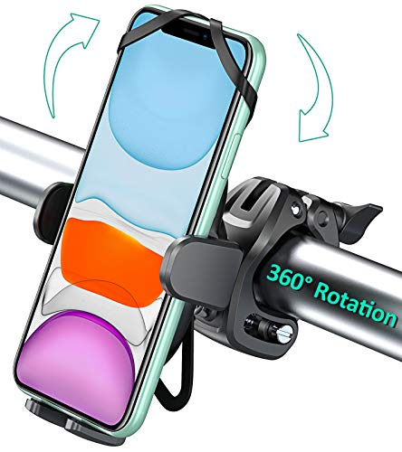 Bovon Bike Phone Mount with 360 Rotation, Universal Adjustable Motorcycle Phone Mount Compatible with iPhone 12 Pro Max…