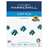 Hammermill Paper, Copy Plus, 20lb, 8.5 x 11, letter, 92 Bright, 5,000 Sheets/10 Ream Case (105007C), Made In The USA