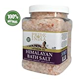Pride Of India - Himalayan Pink Bathing Salt - Enriched w/Lavender Oil and 84+ Natural Minerals, 2.5 Pound (40oz) Jar