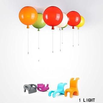 Deckenleuchten  Einfache LED Rund Kinder Zimmer Nachahmung Ballon Acryl  Deckenleuchten Warmes Und Romantisches Schlafzimmer Mit