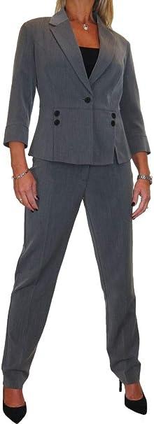 ICE Donne i Pantaloni Completo per Ufficio o Business Look Designer 40 a 52