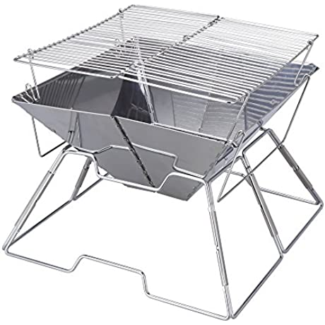 Magicook Portable BBQ Grill Charcoal Grill Stainless Steel Folding Grills For Outdoor Camp Garden Barbeque