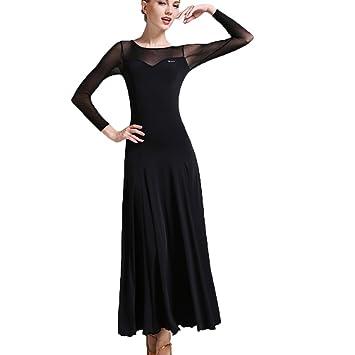 Professionnel Robes de Danse de Salon pour Les Femmes Engrener Manche  Épissure Tango Déguisement de Justaucorps a6e3ad9f836