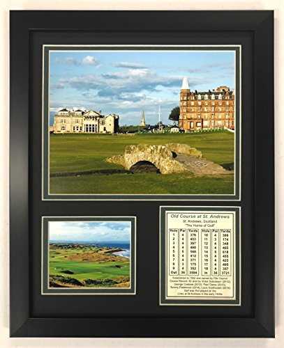 Collectible Golf (Legends Never Die The Old Course at St. Andrews Golf Course Collage Photo Frame, 11