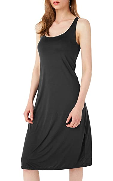 b2dcfe25315b4 TAIPOVE Cotton Long Camisole Slip Comfy Padded Bra Built in Lingerie  Chemise Tank Top Nightgown Sleep Dress Nightie Activewear Cami Underdress   ...