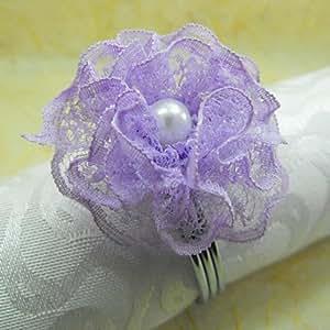 CH y CH Surepromise servilleta anillo jadella 6, organza/acrílico fantronix 4,5 cm, Color al azar