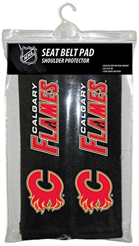 Belt Buckle Seat Flames - Fremont Die NHL Calgary Flames Seat Belt Pads
