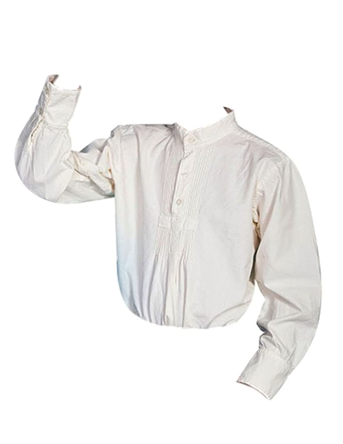 Victorian Kids Costumes & Shoes- Girls, Boys, Baby, Toddler Scully Boys Pleated Front Long Sleeve Shirt - 500020K WHT $37.52 AT vintagedancer.com