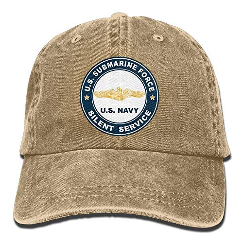 (US Submarine Force Silent Service Gold Dolphins Unisex Adult Adjustable Jeans Dad Caps)