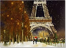 midnight in paris deluxe boxed holiday cards christmas cards greeting cards