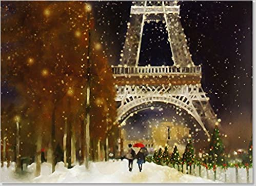 midnight in paris deluxe boxed holiday cards christmas cards greeting cards peter pauper press 9781441323576 amazoncom books - Deluxe Christmas Cards