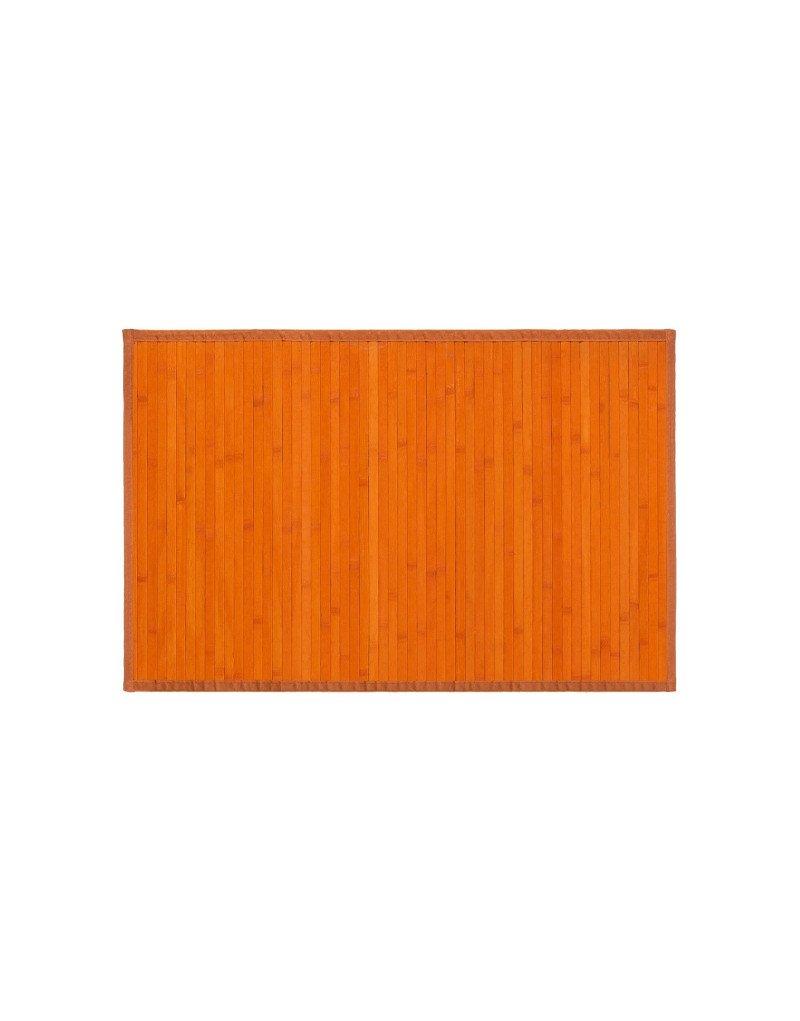 Alfombra de madera de Bamb/ú Naranja