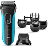 Braun Series 3 3010BT Men's Beard Trimmer/Hair Clipper, Razor, Foil Shaver, Blue & Black