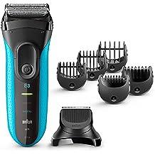Braun Mens Electric Shaver, Series 3 3010BT, Razor, Beard Trimmer, Foil Shaver, 3-in-1, Blue & Black