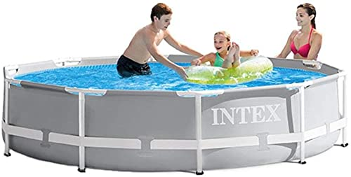 Intex 10ft x 10ft x 30in Pool w/ 10 Foot Round Pool Cover and Filter Cartridge