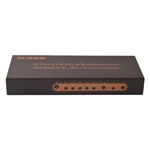 3 opinioni per Huierav HDMI 2.0HDMI Switch 5x 1  4K @ 60Hz UHD 5porte HDMI 5x