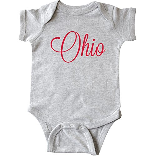 Cotton Ohio Onesie (inktastic - Ohio Infant Creeper 6 Months Heather Grey)