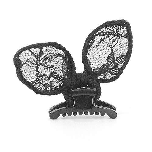 (Hot Cute Lady Girl Mini Claw Lace Rubbit Ear Cosplay Party Duckbill Clip Hairpin)