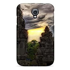 Durable Defender Case For Galaxy S4 Tpu Cover(ancient Asian Temples Hdr)