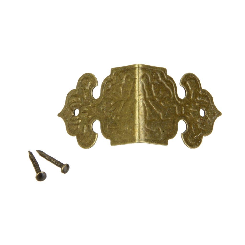 Lot de 100 Protecteur de Coin D/écor Antique Protection pour Meuble Coffret /à Bijoux Dor/é