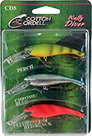 Cotton Cordell PK3CD5-1 Wally Diver 3 Pack Assortment