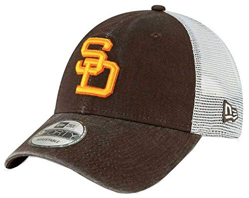 New Era 2019 MLB San Diego Padres Baseball Cap Hat 1980 Cooperstown Truck Mesh Brown/White (Retro Sports San Diego)