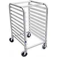 AmGood Commercial Kitchen Pan Rack - Heavy Duty, Bun Pan Sheet Rack, NSF Certified with Wheels (10 Tier Pan Rack)