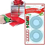 """6-PACK Holiday Tape Refill - 12 Rolls of Printed Tape 1/2"""" - Mint / Sprinkles Candy Design"""